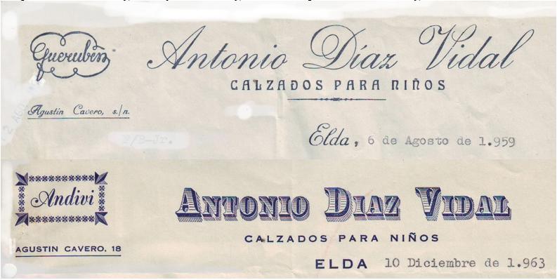 d27414d2 En la calle Agustín Cavero hubo una pequeña industria de fabricación de  calzados para niños que fue fundada por Antonio Díaz Vidal, su marca