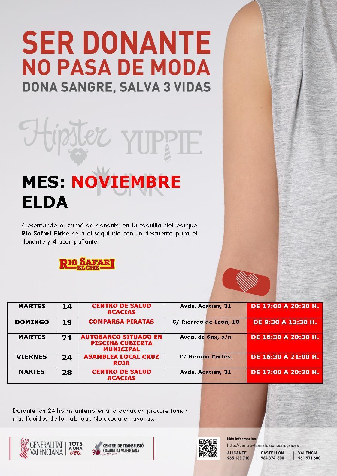 Donaciones de sangre en el mes de noviembre en elda valle de elda - Mes noviembre 2017 ...